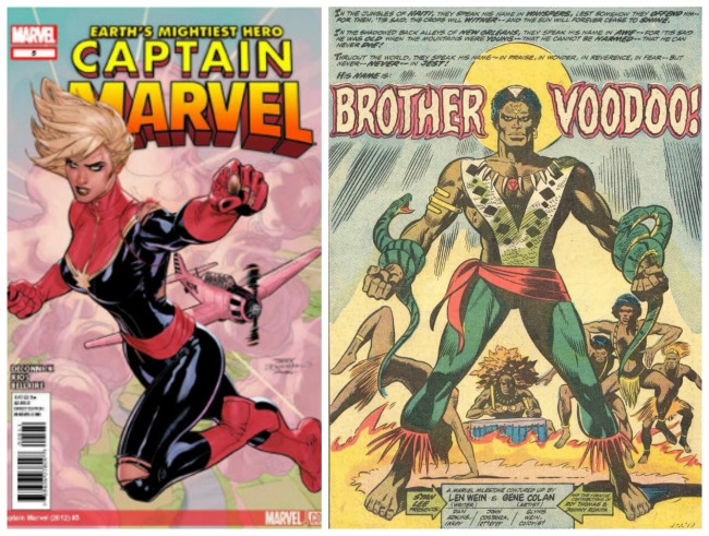 Brother Voodoo and Captain Marvel is who Laurence Fishburne wants most to see in the MCU