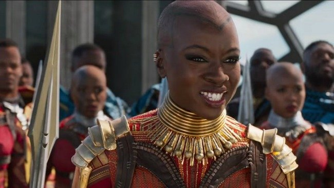 Danai Gurira as Okoye in Marvel's Black Panther is someone who Evangeline Lilly wants to see in an all girls MCU project