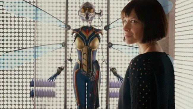 The moment Hope van Dyne realizes that she will take over the moniker, the Wasp