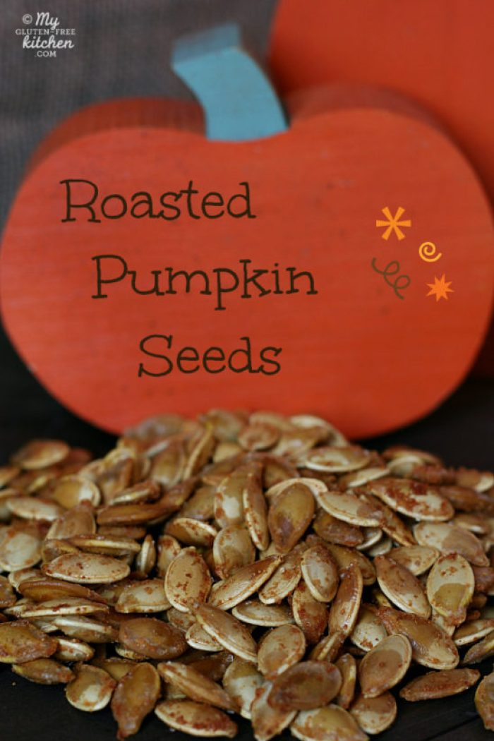 Hint of garlic roasted pumpkin seeds