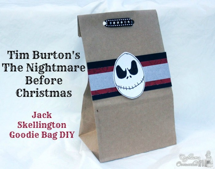 The Nightmare Before Christmas Jack Skellington Craft Bag
