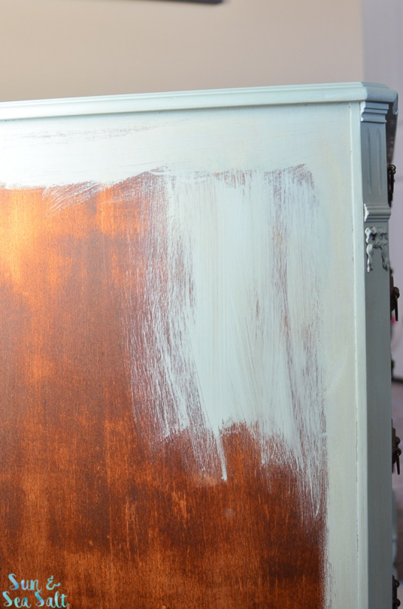 Work in small sections when painting with Annie Sloan chalk paint.