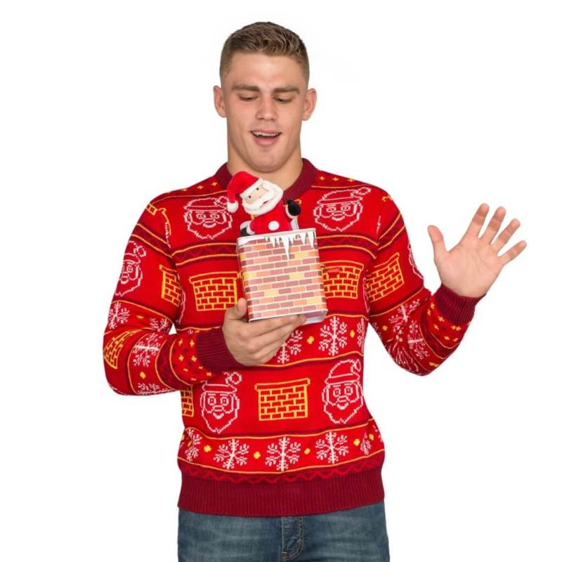 Jack in the Box Santa Ugly Christmas Sweater