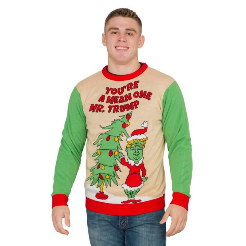 Trump as The Grinch Christmas Sweater