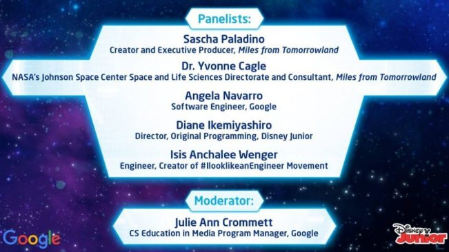 An impressive STEM panel at Google HQ
