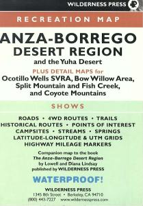 Anza-Borrego Desert Region Map