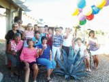 Members of the SunBird Ladies Tennis Club released balloons in honor of Lorette Cornman