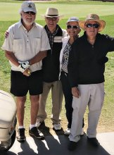 Rich VanderVeen, Chet Howe, Rosie VanderVeen and Dave Meyers at Kare Bears Golf Tournament