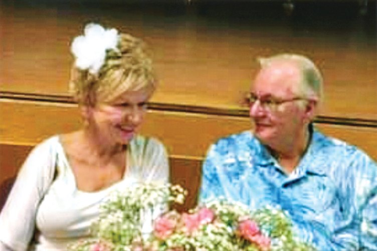 Newlyweds Peggy White and Larry Schoenborn