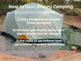 Traveling Cheaply: Think Camping!
