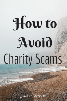 Concerned about charity scams during the holiday season? How to avoid charity scams this holiday season! via @sunburntsaver