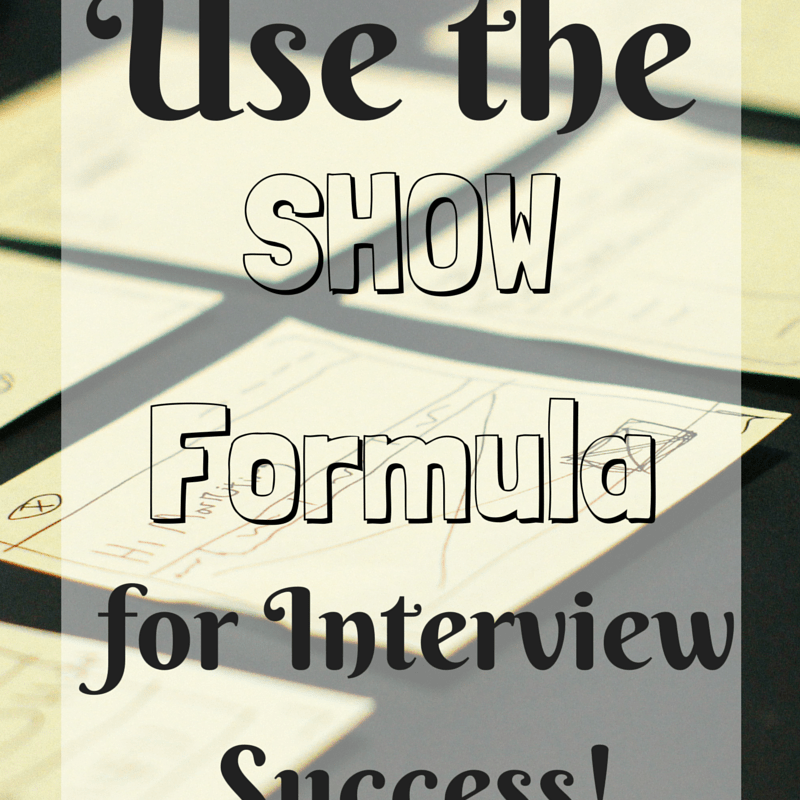 1 Formula for Interview Success!