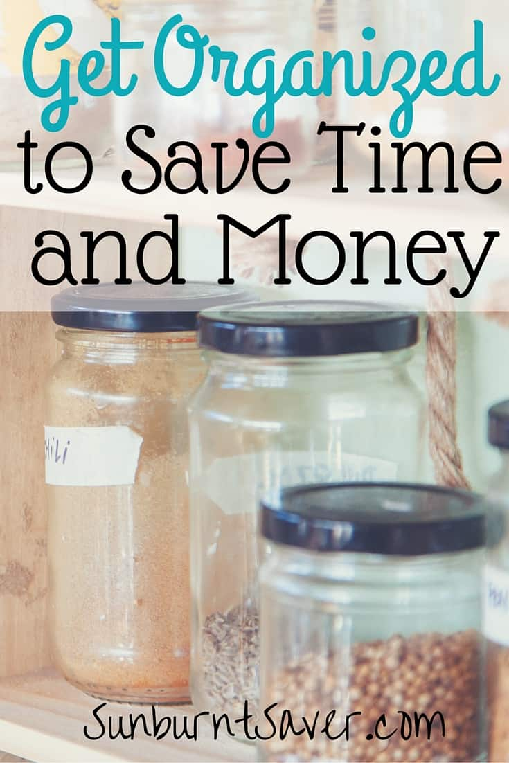 Having trouble getting motivated to get organized? You can save time and money by setting up an organizational system! Here's how via @sunburntsaver