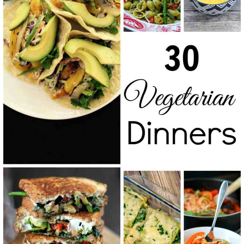 30 Delicious and Frugal Vegetarian Dinners