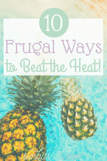 Looking to beat the summer heat? Here are 10 frugal ways to beat the heat, enjoy your summer, and not spend a ton of money!