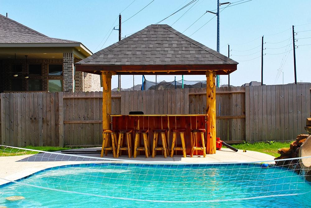 Sun Coast Palapas - Texas Synthetic Palapa Builder on Palapa Bar Backyard id=64589