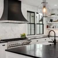 Black and white modern kitchen.