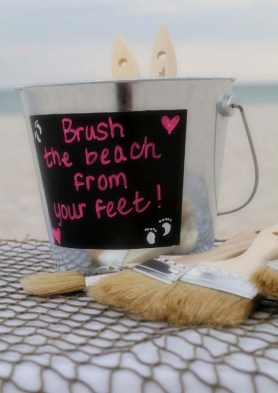 brush your feet
