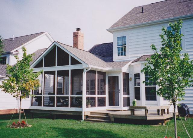 gable roof screen porch columbus ohio