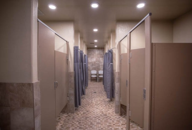A new modern look for our showers and bathrooms.