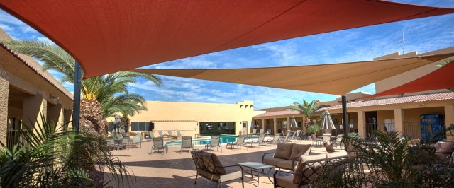 Pool side RV Resort Living Casa Grande Arizona