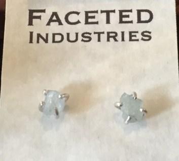 Faceted Industries Colorado aquamarine stud earrings
