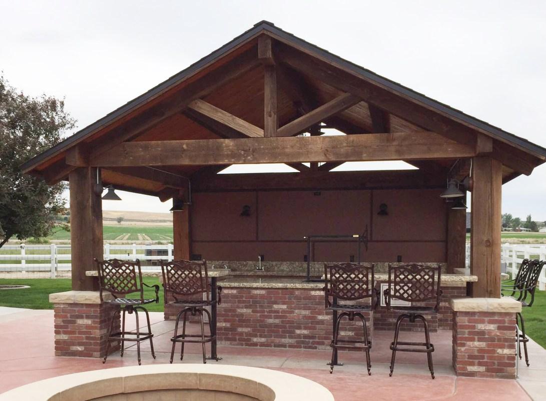 Timber Frame Outdoor Kitchen Pavilion//Nampa, Idaho ... on Outdoor Patio Pavilion id=68075