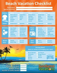 Beach Vacation Checklist Sundance Vacations