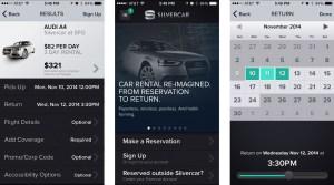 Silvercar App Screenshots Sundance Vacations