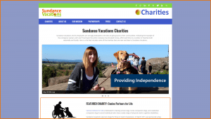 Sundance Vacations Charities Website