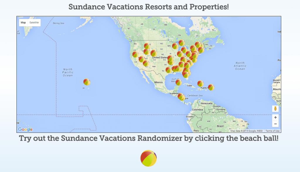 Sundance Vacations Resorts and Properties Map