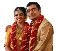 Our son Vishnu and daughter in law Deva on their wedding day.
