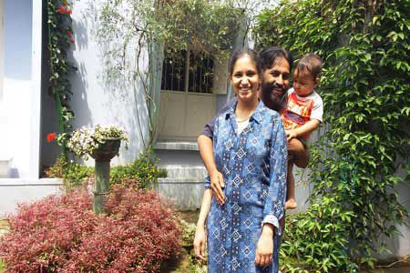 Pure Vegetarian, Jain food, Vegan Homestay Guests Muthu and Priya