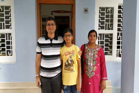 Guests of the Only Vegetarian Homestay in Wayanad Jinedra Jain, Neha and Rachit