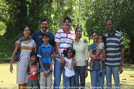 Sundara Mahal Vegetarian Homestay guests Dr Srinivasan and family