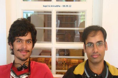 Sundara Mahal Vegetarian Homestay guests Kapil Yadav and Aniruddha Aradhye