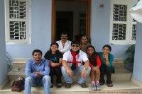 Sundara Mahal Vegetarian Homestay guests Kauser and family