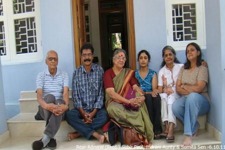 Sundara Mahal Vegetarian Homestay guests Rear Admiral Subir Paul and family