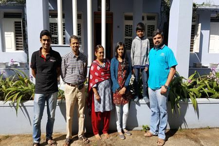 Sundara Mahal Vegetarian Homestay guests Savitha and family