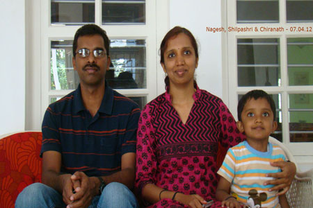 Sundara Mahal Vegetarian Homestay guests Nagesh and family