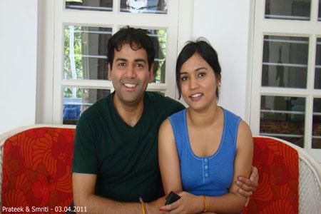 Sundara Mahal Vegetarian Homestay guests Smriti and family