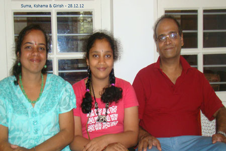 Sundara Mahal Vegetarian Homestay guests Girish and family