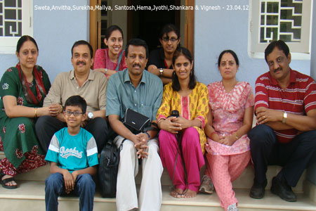 Sundara Mahal Vegetarian Homestay guests Mallya BS and family