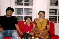 Sundara Mahal Vegetarian Homestay guests Vijay and family