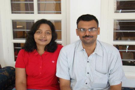 Sundara Mahal Vegetarian Homestay guests Padma Vallury and family