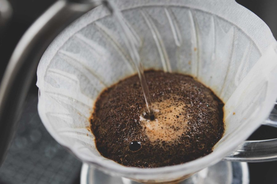 making coffee with a Hario V60