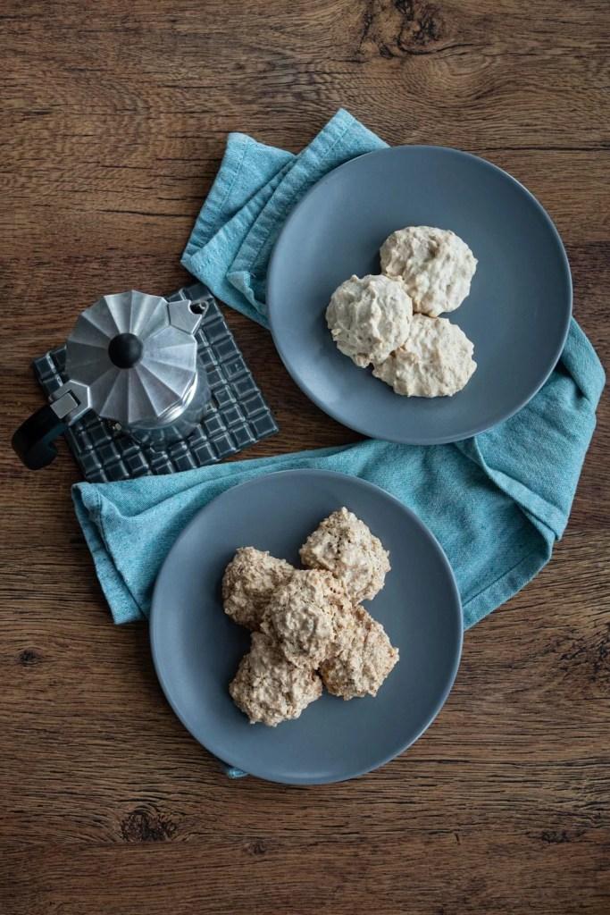 plates of brutti ma buoni cookies