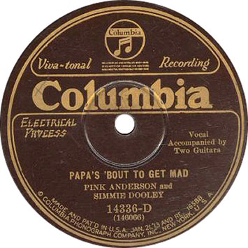 Pink Anderson & Simmie Dooley: Papa's 'Bout To Get Mad