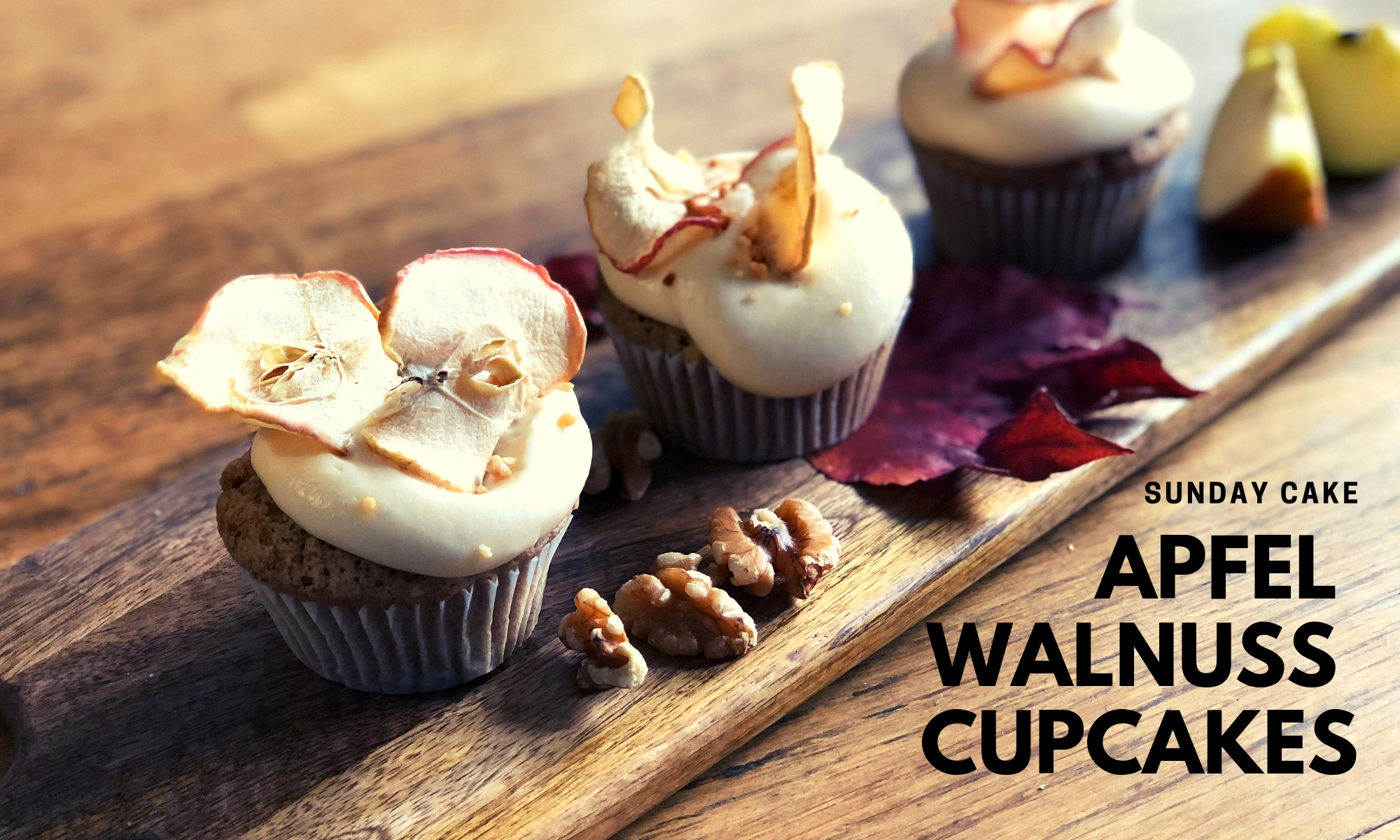 Apfel-Walnuss-Cupcakes