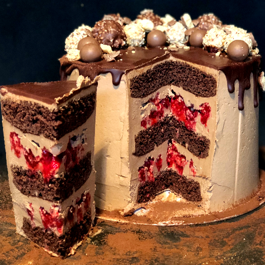 Raspberry Dark Chocolate Cake_3